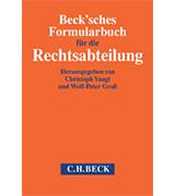 C. Vaagt, W.P. Groß: Formularhandbuch für die Rechtsabteilung