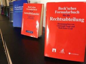 Beck'sches Formularhandbuch für die Rechtsabteilung