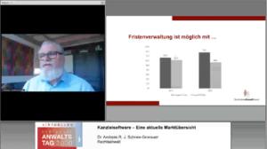 Dr. Schnee-Gronauer spricht über den Kanzleisoftwaremarkt