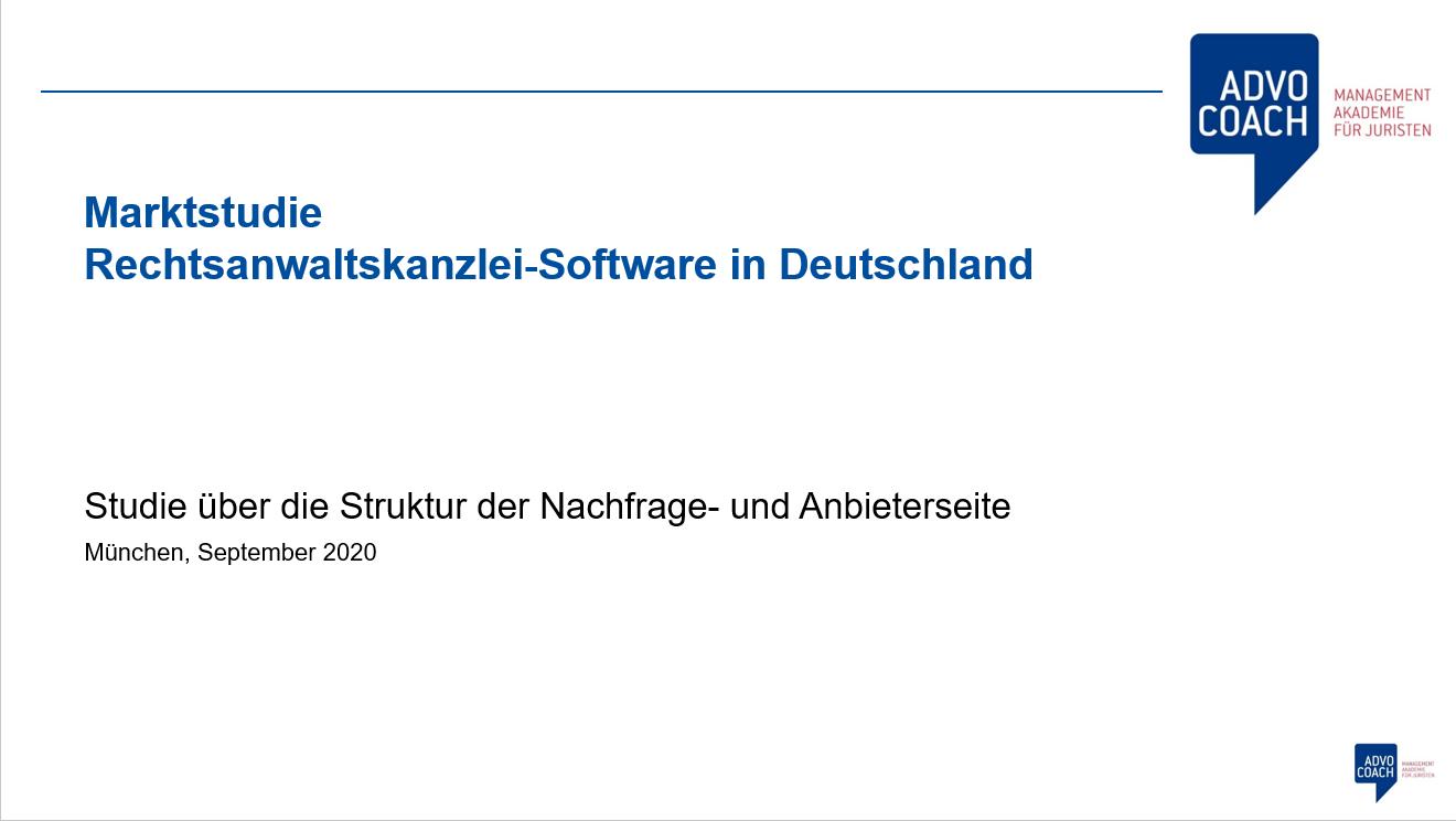 Deckblatt Kanzleisoftwaremarkt Deutschland 2020